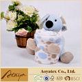 100% de poliéster super macio do bebê adorável brinquedo cobertor