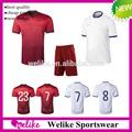 2014 copa del mundo de venta al por mayor de fútbol uniformes portugal casa/lejos de camisetas de fútbol de alta calidad del equipo de fútbol desgaste