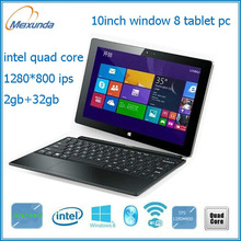 """Hot sale 10"""" tablet pc Quad core Intel Baytrail windows 8 computer with keyboard"""