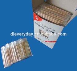 1000pcs round wooden cello wrapped toothpicks