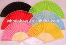 cheap silk hand fan with bamboo handle