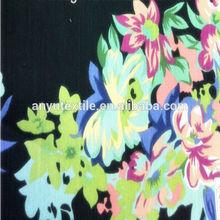 100% Polyester Tablecloth Fabric Wholesale Table Linen, Satin Overlay Flower Printed Minimatt Fabric