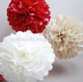 Fiore di carta fai da te per la festa di nozze decorazioni, impiccagione di carta pompon