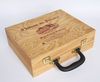 Free Sample Factory Price Wooden Wine Box,Case With Handle