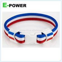 Custom logo nylon france country flags bracelet