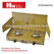 street price foldable 2 burner table top gas stove