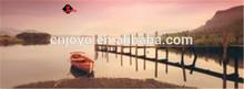 The boat bridge landscape painting