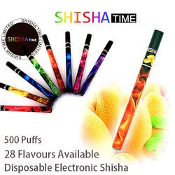 High quality fruit flavor diamond tip gold shisha pen 500 puffs accept your own Logo