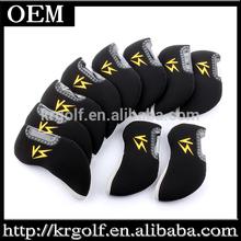 2014 New 10pcs Innovative Black Neopene Yellow VS Golf Iron Clubs Headcovers Iron Head covers