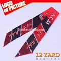 Bandeaux de Guangzhou de logo personnalisé, polyester de l'équipe de football imprimé bandeau de ventilateurs