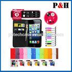 New leather portfolio folding wallet case,handset case for iphone 5