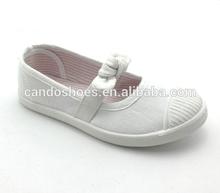 classic buckle canvas white shoe