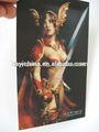 Patrón de dibujos animados Lenticular impresión 3D chica desnuda cartel para la promoción