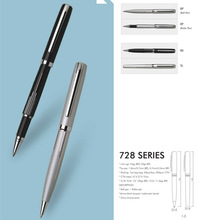 METAL PROMOTIONAL PEN, LASER LOGO PEN WITH CHROME UNDERLAY ON BELOW BARREL, PEN SET FOR PROMOTION