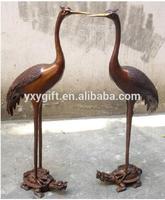 113cm high crane on tortoise statue/copper sculpture fengshui decor bronze statue