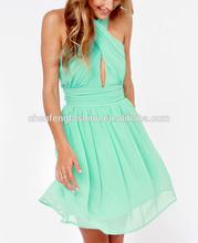 Twist silky crisscross gathered bodice sexy elegant ruched green formal dress