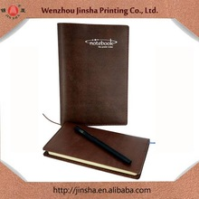 embossed logo and pu leather notebSilver stamp Personalized custom cheap custom notebook,PU leather notebook,