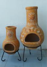 Garden supply outdoor clay chimineas