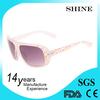 2015 fashionable custom women sunglasses colorful dot plastic frame sunglasses