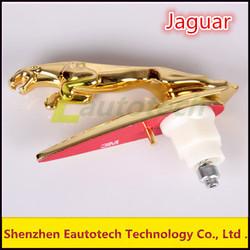 Jaguar Hood Bonnet Chrome Metal Badge Emblem Limited Vision With Gold Color