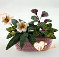 تاجر الجملة دمية مصغرة الزهور زهور اصطناعية كلاي
