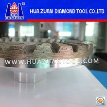 Continuous rim diamond grinding cup wheel