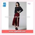 Simple style vin rouge droite tricot jupe longue
