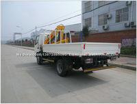 Knucle boom mini truck mounted crane 3.2ton