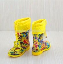 Candy color transparent rain boots for kids children rubber boots