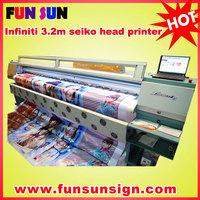 Challenger/infiniti FY3208R digital flex printing machine ( 8 SPT510/35pl head ,high quality)