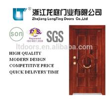 Latest Design Turkish Steel Wooden Armored Door LTK-003