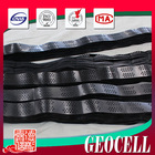 height smooth HDPE Geocells grass seed mats / plastic driveway