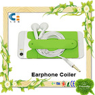 3m Sticker Silicone earphone coiler with stand