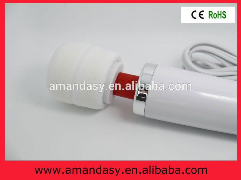 Samples free big AV Magic Wand Massager,cheap Wired 10 speed personal massager,sex toy for wowen (PD007)