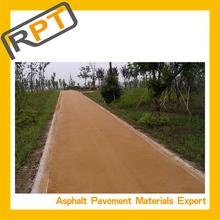 Safer traffic via colored asphalt