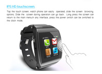 2014 newest watch mobile phone 1.55'' touch screen with bluetooth smart watch mobile