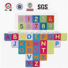 eva foam alphabet & number puzzle mat/baby puzzle mat/EVA jigsaw puzzle mat