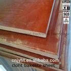 brown electronics insulation board phenolic paper/cotton cloth laminated sheet