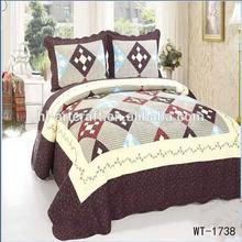 Latest design hot sale brown patchwork bed set