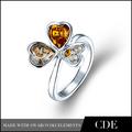 Ingrosso 2014 magnetico anelli ombelico, antico strass avvolgere foglia 925 italiano anello in argento