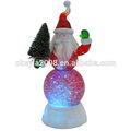 De alta calidad de luz led, personalizado de navidad musical globo de agua, regalo de navidad