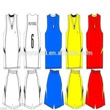 OEM Digital print sublimation reversible basketball jersey