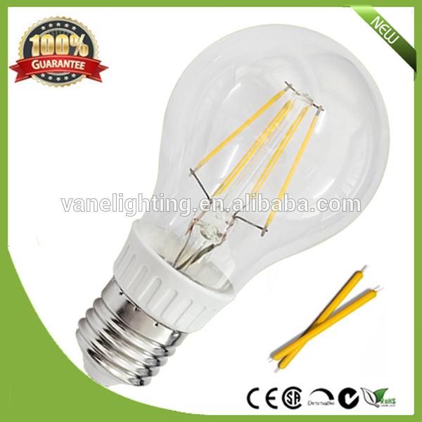 360degree 2700K A60 led filament bulb CE RoHS approval