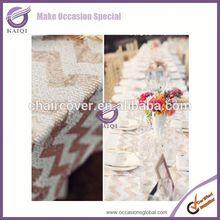 18647 wedding favors china zig zag wholesale tablecloth