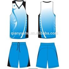 custom color blue jersey basketball design