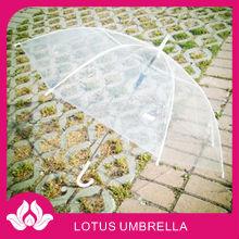 picture rain transparent pvc umbrella