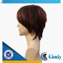 high quality wholesales elvis black virgin remy short indian men's hair wigs for sale