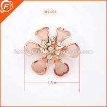 rose gold stone metal flower brooch bouquet garment accessories metal trim