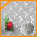 branco floral lace voile dubai mercado grossista de tecido do laço vestido de noiva usado