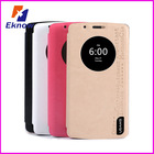 Window smart flip leather phone case cover for LG G3